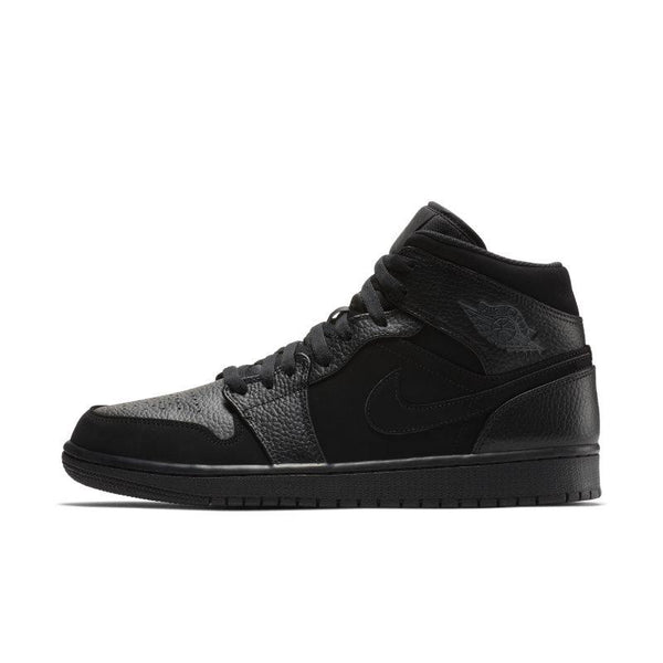 Buy Nike Air Jordan 1 Mid Men's Shoe - Black NIKE UK online now at Soleheaven Curated Collections