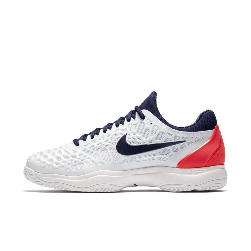 NIKE Nike Zoom Cage 3 HC Men's Tennis Shoe - White SOLEHEAVEN