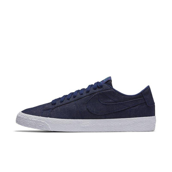 Nike SB Zoom Blazer Low Canvas Deconstructed Men's Skateboarding Shoe - Blue
