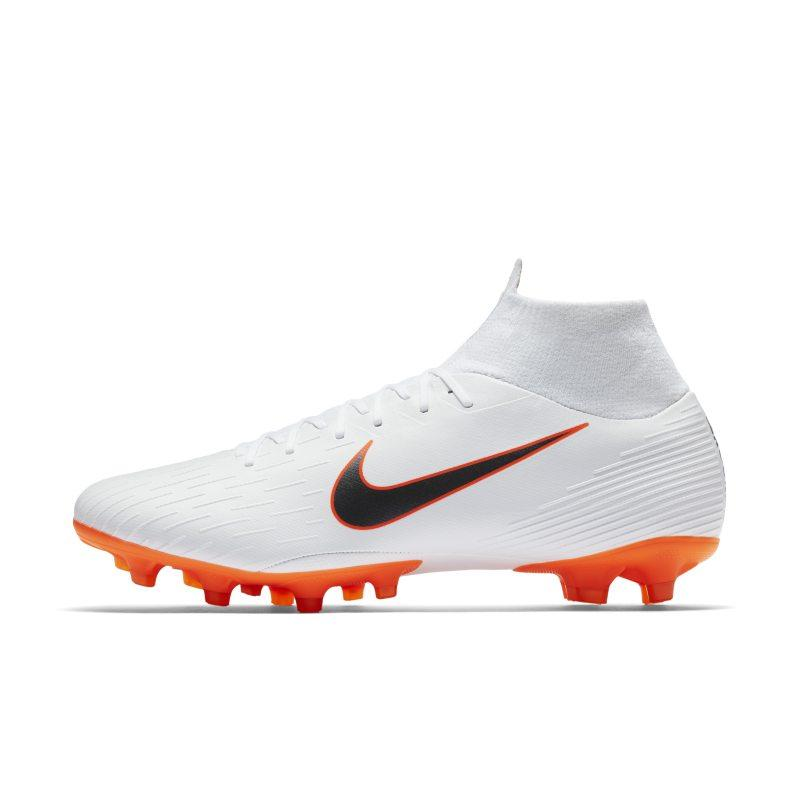 Nike Nike Mercurial Superfly VI Pro AG-PRO Artificial-Grass Football Boot - White SOLEHEAVEN