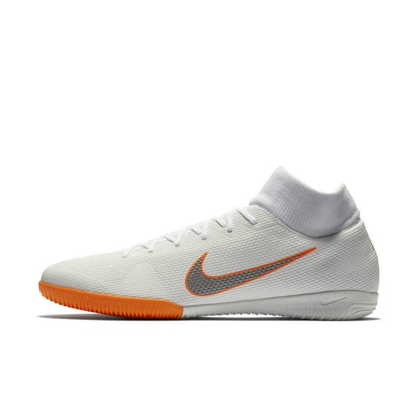 Nike MercurialX Superfly VI Academy IC Just Do It Indoor/Court Football Shoe - White