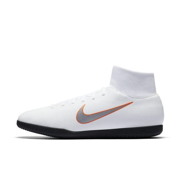 Nike MercurialX Superfly VI Club Just Do It IC Indoor/Court Football Shoe - White