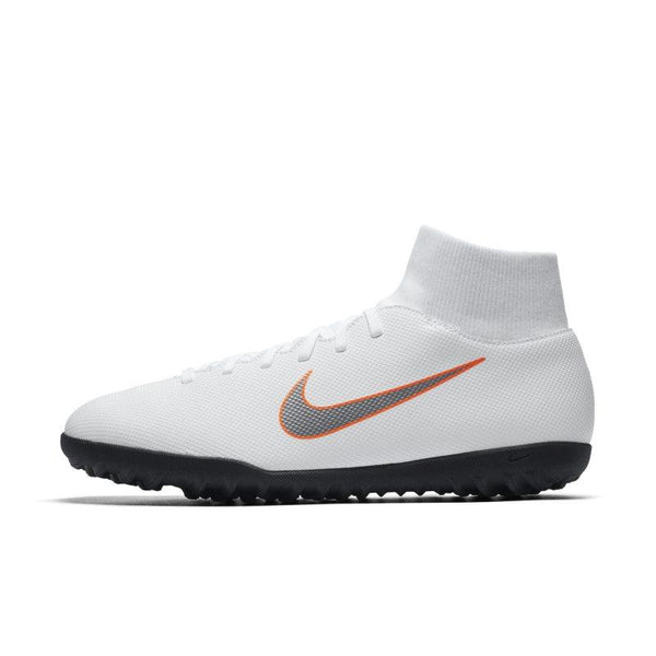 Nike MercurialX Superfly VI Club Just Do It Turf Football Shoe - White