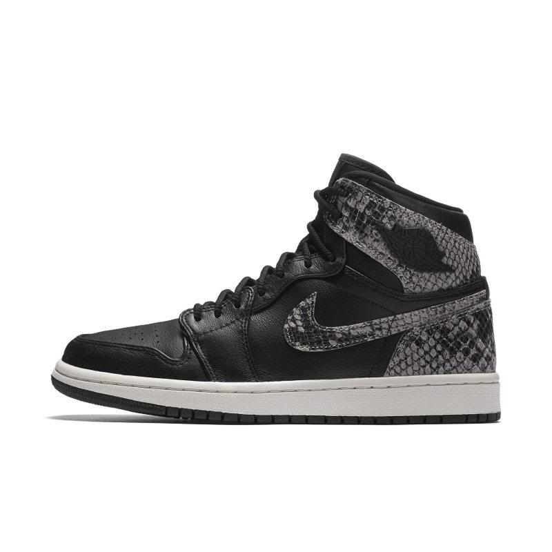 Nike Air Jordan 1 Retro High Premium Women's Shoe - Black SOLEHEAVEN