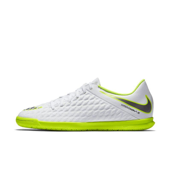 Nike HypervenomX Phantom III Club IC Indoor/Court Football Shoe - White