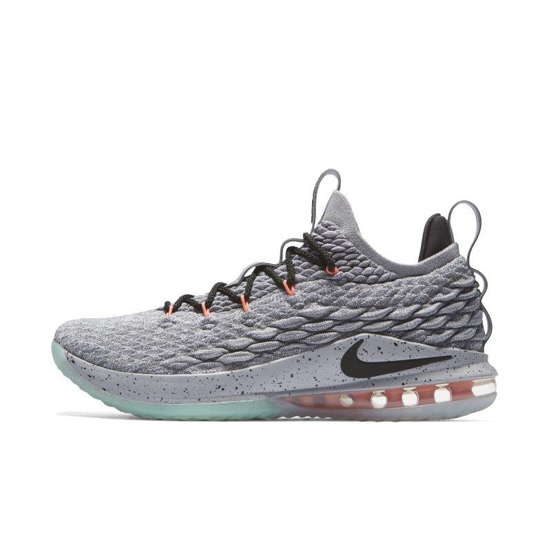 NIKE LeBron 15 Low Basketball Shoe - Grey SOLEHEAVEN