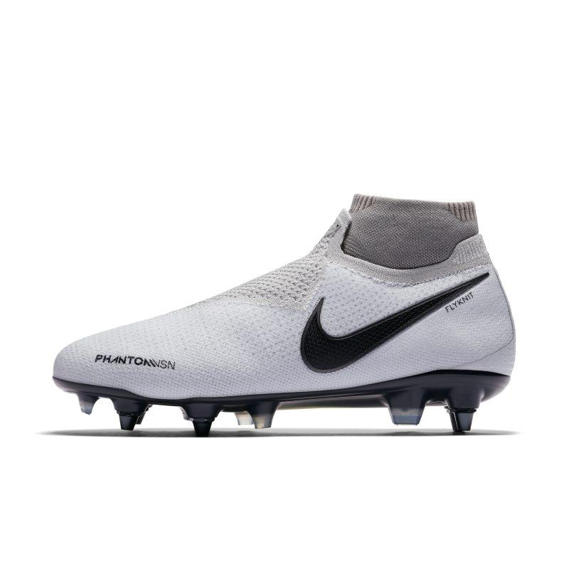 Nike Nike Phantom Vision Elite Dynamic Fit Anti-Clog SG-PRO Football Boot - Silver SOLEHEAVEN
