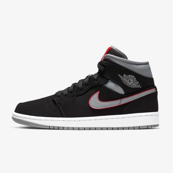 4eab12f65bc Nike Air Jordan 1 Mid 'Black / Gym Red' SOLEHEAVEN