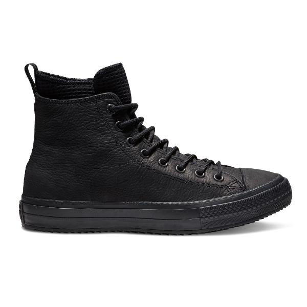 Converse Converse Chuck Taylor All Star WP Leather High Top 'Triple Black' SOLEHEAVEN
