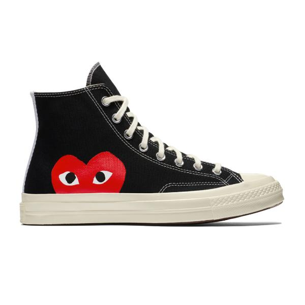 Buy Converse Converse x Comme des Garçons PLAY Chuck 70 High Top 'Black' converse online now at Soleheaven Curated Collections