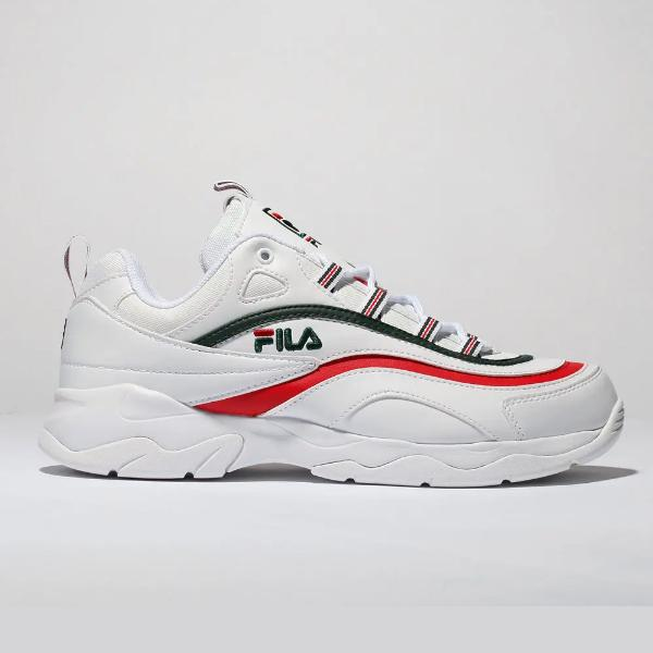 Chunky trainers Fila Ray 'White / Red' SOLEHEAVEN