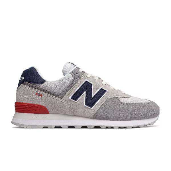 New Balance New Balance 574 Marbled Street 'Grey / Red' SOLEHEAVEN