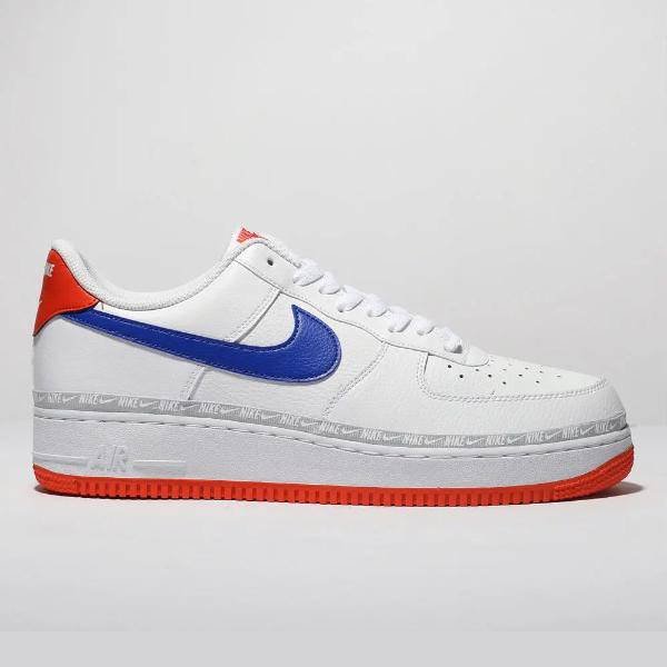huge selection of 62cc3 4c38d Nike Nike Air Force 1 07 LV8  White   Blue  SOLEHEAVEN