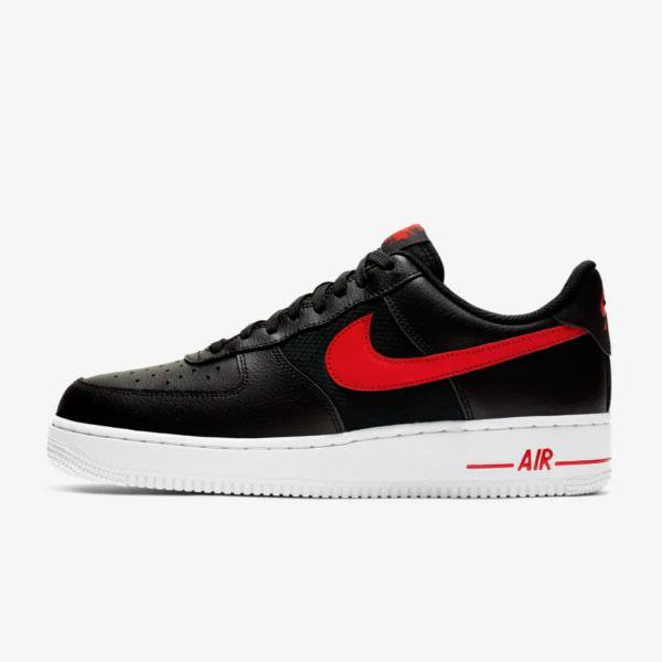6ba2389b348 Nike Nike Air Force 1 LV8  Black   University Red  SOLEHEAVEN