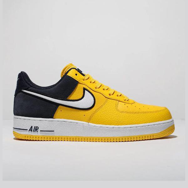 nike air force 1 yellow and blue