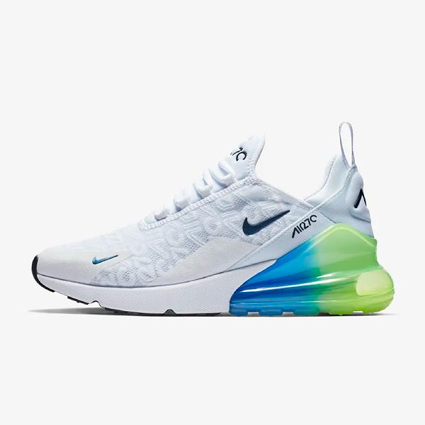 huge selection of 47374 de0d9 Nike Air Max 270  White   Lime Blast