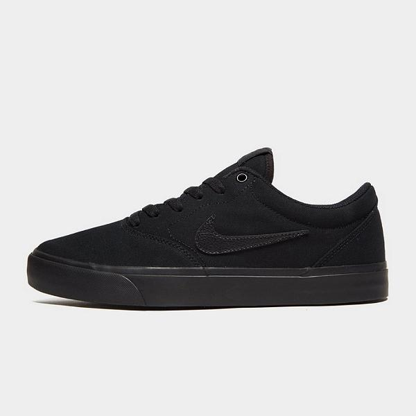 skate shoes Nike SB Charge Solarsoft 'Triple Black' SOLEHEAVEN