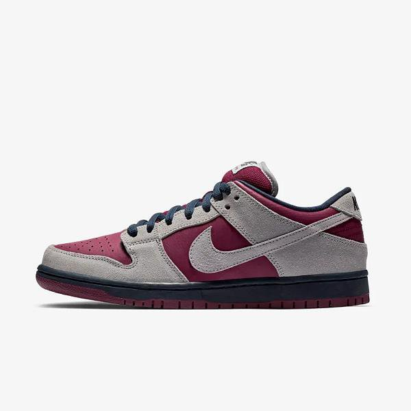 cheap for discount 7ca69 09fc5 Nike Nike SB Dunk Low Pro  Atmos Grey   True Berry  SOLEHEAVEN