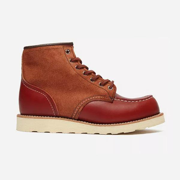 "Red Wing Shoes Red Wing 08819 Two Tone 6"" Moc Toe Boot SOLEHEAVEN"