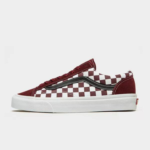 Vans Vans Old Skool Checkerboard 'Burgundy' SOLEHEAVEN
