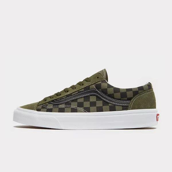 Vans Vans Old Skool Checkerboard 'Olive / Black' SOLEHEAVEN