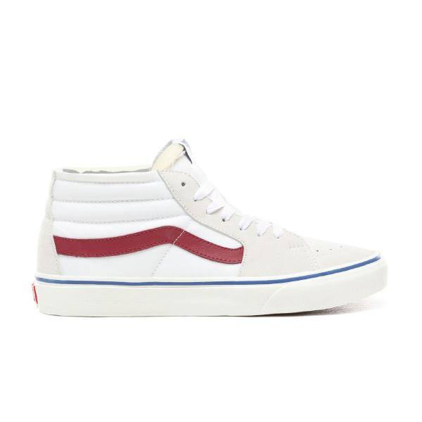 Vans Vans Sk8 Mid Foam White Red At Soleheaven Curated Collections