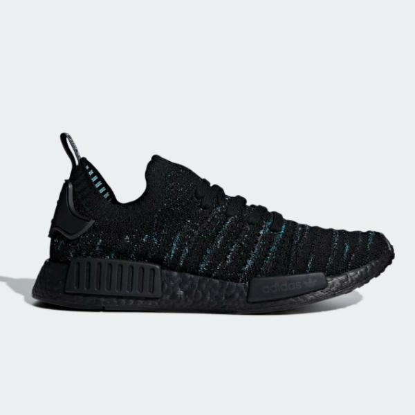 Buy adidas adidas Originals NMD_R1 STLT Parley Primeknit 'Black / Blue Spirit' adidas online now at Soleheaven Curated Collections