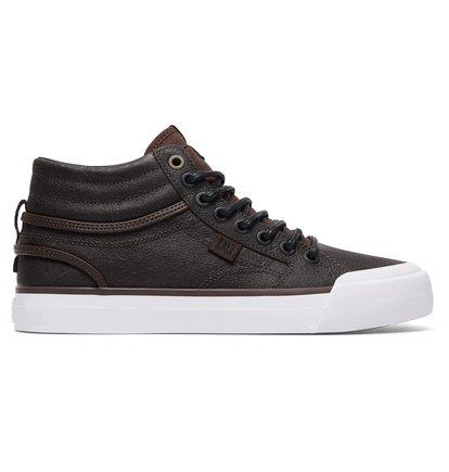 DC Shoes Evan Hi - High-Top Leather Shoes for Women - Brown - DC Shoes SOLEHEAVEN
