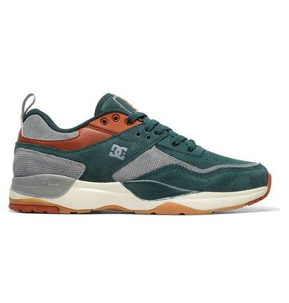 E.Tribeka LE - Leather Shoes for Men - Green - DC Shoes