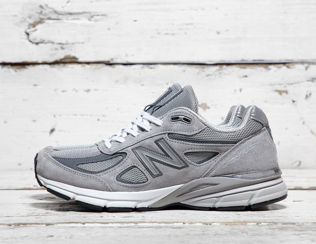 New Balance Mens New Balance 990 - Made in the USA - Grey/Grey, Grey/Grey SOLEHEAVEN