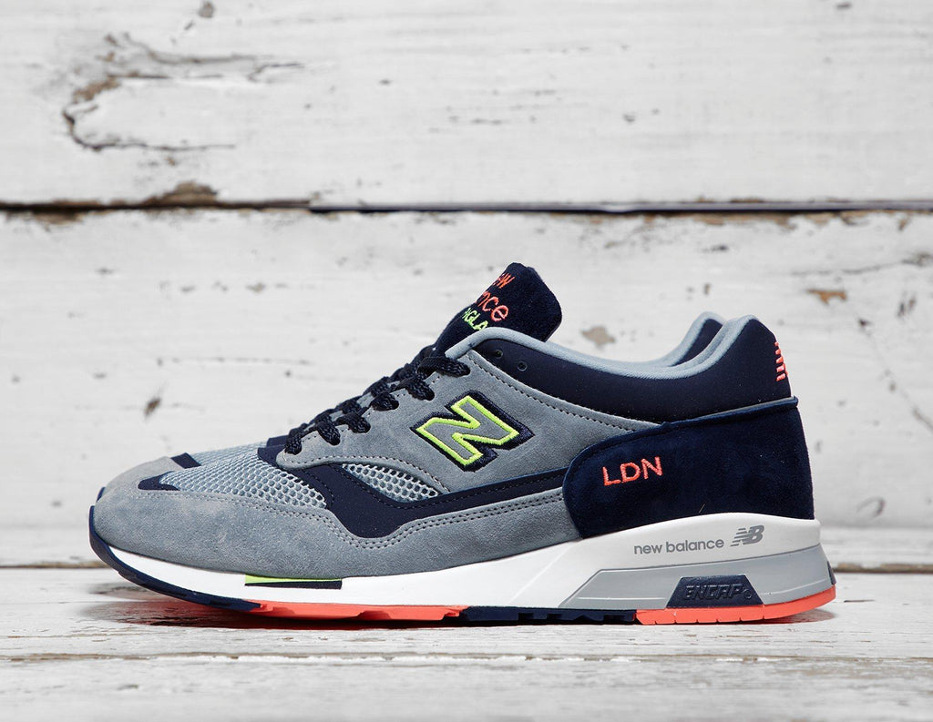 New Balance Mens New Balance Made in UK 1500 'LDN' - Grey/Navy, Grey/Navy SOLEHEAVEN