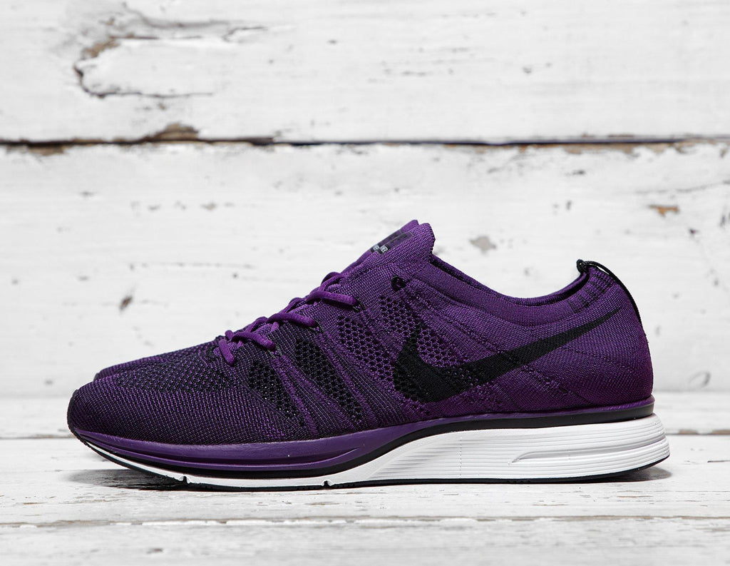 Nike Mens Nike Flyknit Trainer - Purple/White, Purple/White SOLEHEAVEN