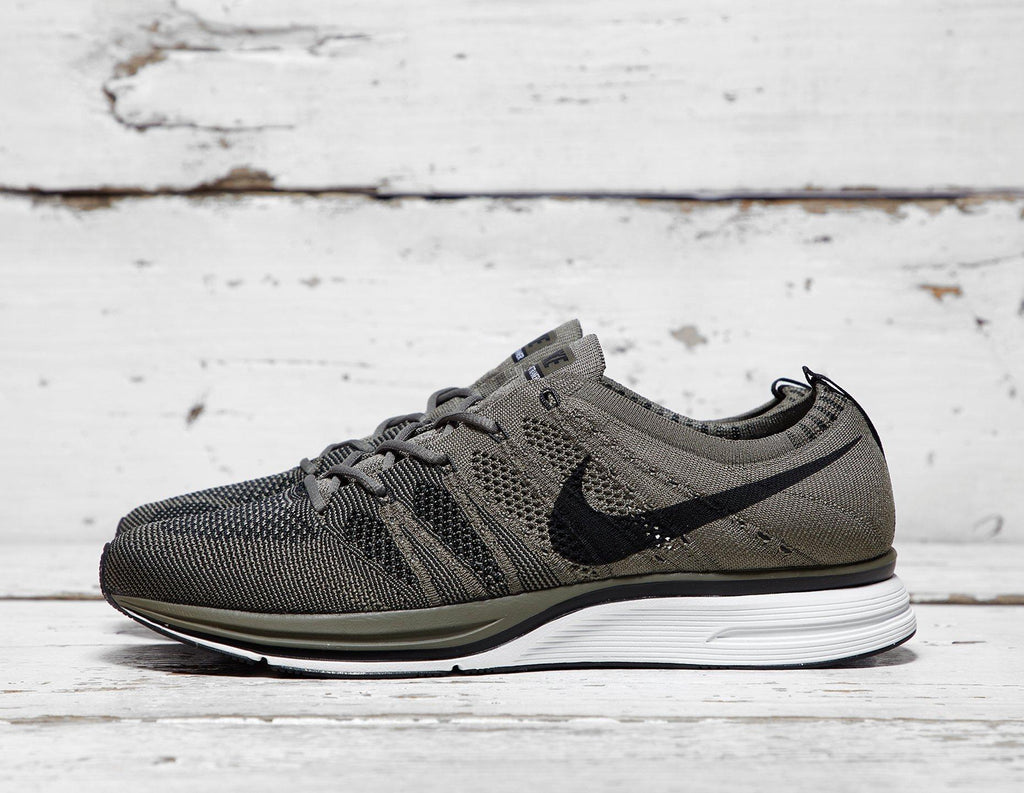 Buy Nike Mens Nike Flyknit Trainer - Green/Black, Green/Black Footpatrol online now at Soleheaven Curated Collections