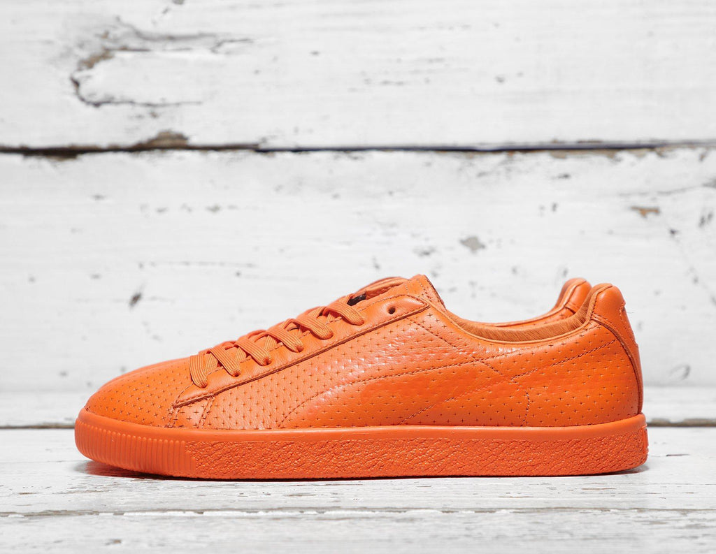 Puma Mens PUMA x Trapstar Clyde Perforated - Red, Red SOLEHEAVEN