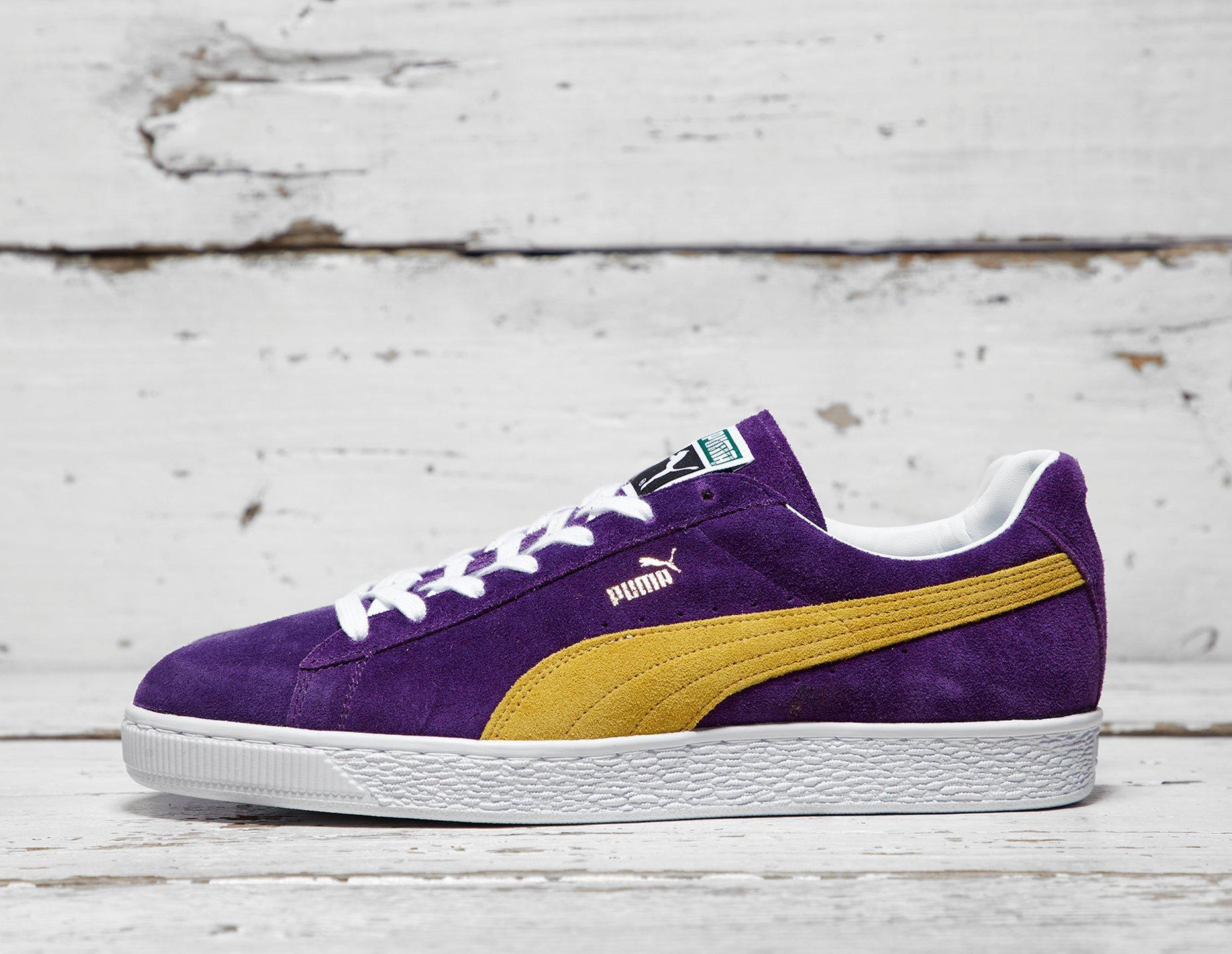outlet store ba5f6 e76ba Puma Mens PUMA Suede Classic - Purple/Yellow, Purple/Yellow at Soleheaven  Curated Collections