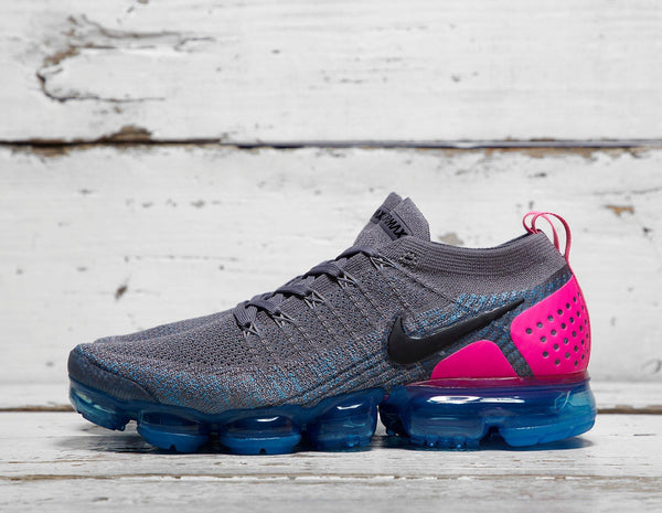 Buy Nike Mens Nike Air Vapormax Flyknit 2 - Grey/Pink, Grey/Pink Footpatrol online now at Soleheaven Curated Collections