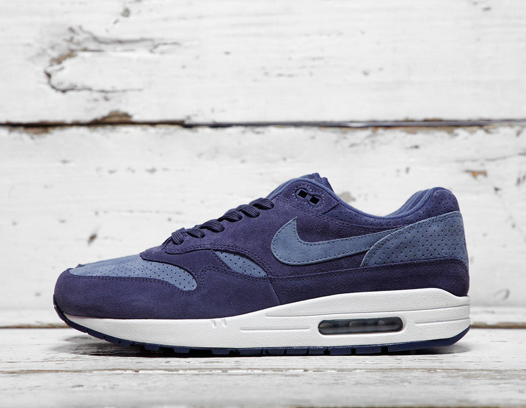Buy Nike Mens Nike Air Max 1 Premium - Indigo/Blue, Indigo/Blue Footpatrol online now at Soleheaven Curated Collections