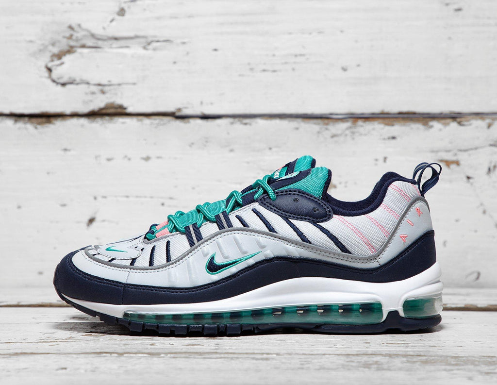 Buy Nike Mens Nike Air Max 98 - White/Navy/Green, White/Navy/Green Footpatrol online now at Soleheaven Curated Collections