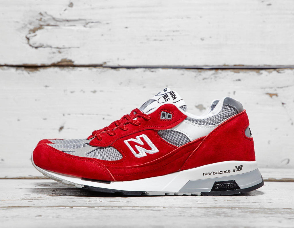 New Balance Mens New Balance M9915BB '991/1500' - Made in England - Red/White, Red/White SOLEHEAVEN