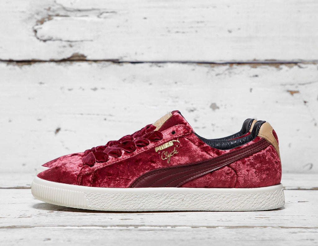 Puma Mens PUMA x Extra Butter Clyde - Red, Red SOLEHEAVEN