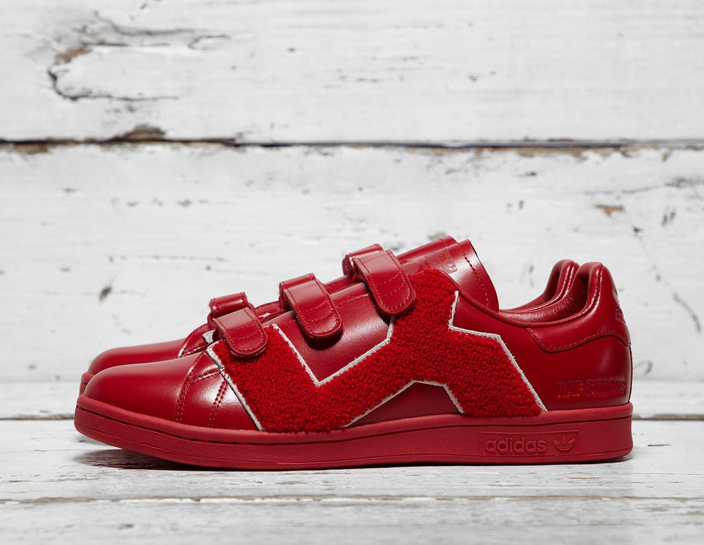 Buy Adidas Mens adidas x Raf Simons Stan Smith Comfort Badge - Red, Red Footpatrol online now at Soleheaven Curated Collections