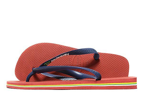 Buy Havaianas Havaianas Brazil Logo Flip Flops - Red/Navy - Mens JD Sports online now at Soleheaven Curated Collections