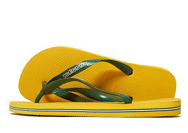 Buy Havaianas Havaianas Brazil Logo Flip Flops - Yellow/Green - Mens JD Sports online now at Soleheaven Curated Collections