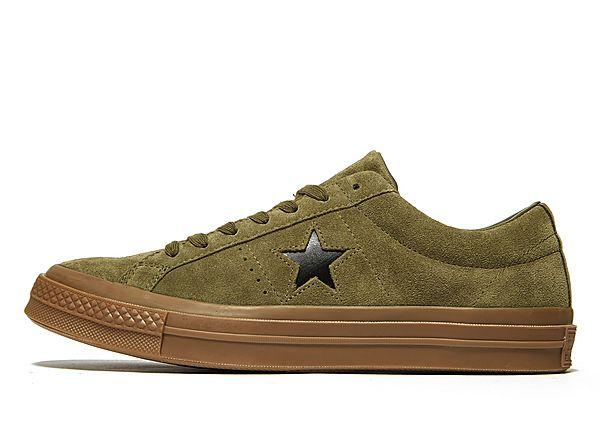 Buy Soleheaven-stencil Converse One Star Suede - Olive - Mens JD Sports online now at Soleheaven Curated Collections