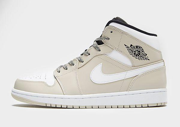 Jordan Jordan Air 1 Mid - Tan/White/Black - Mens SOLEHEAVEN