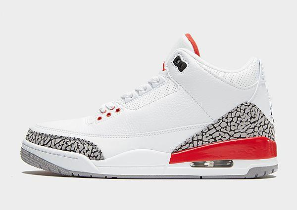 Jordan Air Jordan 3 Retro 'Katrina' - White/Red - Mens SOLEHEAVEN