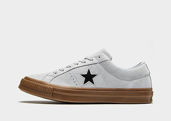 Buy Soleheaven-stencil Converse One Star Suede - Grey/Gum - Mens JD Sports online now at Soleheaven Curated Collections