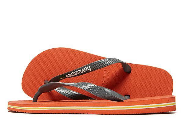 Buy Havaianas Havaianas Brazil Logo Flip Flops - Orange - Mens JD Sports online now at Soleheaven Curated Collections