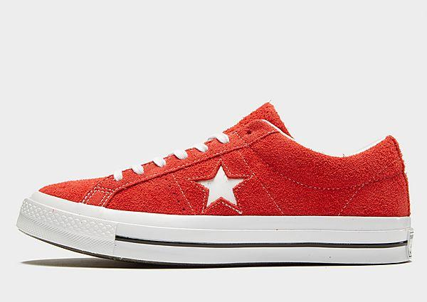 Soleheaven-stencil Converse One Star Suede - Red/White - Mens SOLEHEAVEN