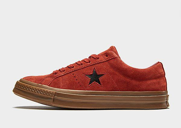 Soleheaven-stencil Converse One Star Suede - Dark Orange/Gum - Mens SOLEHEAVEN